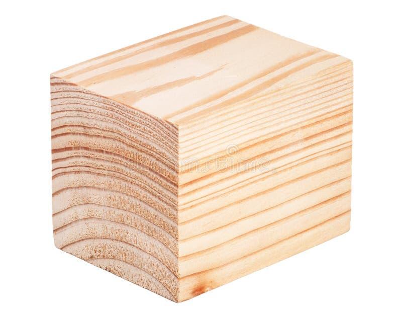 Cubo de madeira isolado fotos de stock royalty free