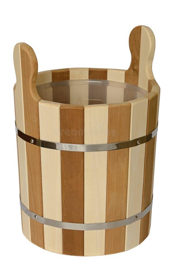 Cubo de madera de tableros de la cal imagenes de archivo