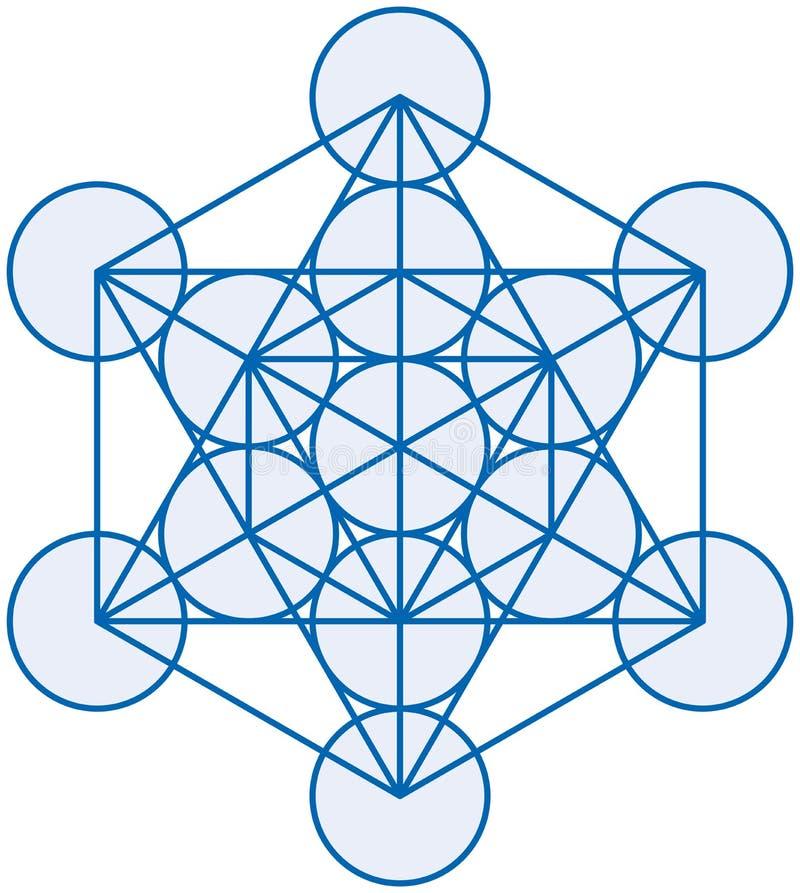 Cubo de Metatron stock de ilustración