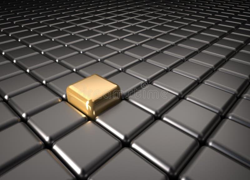 Cubo de oro stock de ilustración