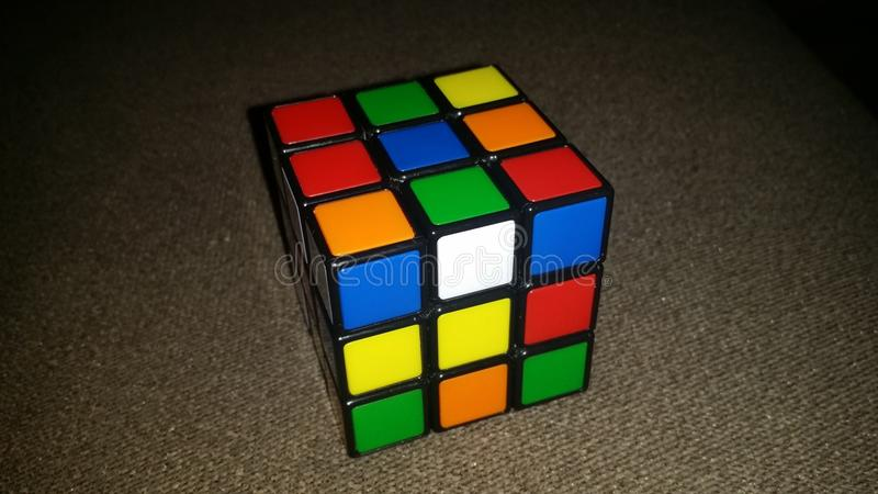 Cubo de Rubik foto de stock