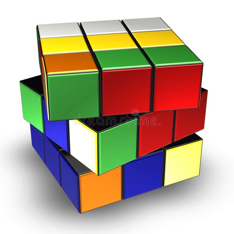 Cubo de Rubik ilustração do vetor