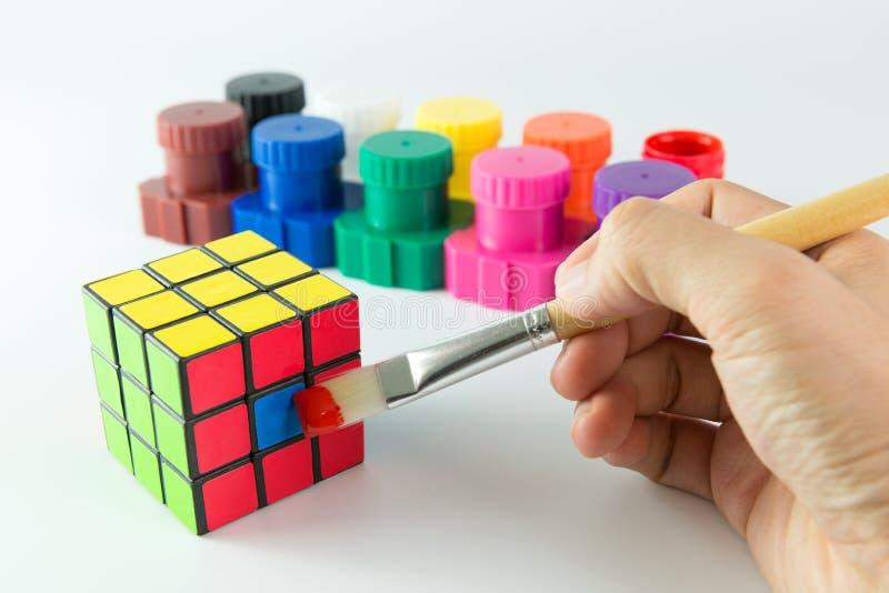 Cubo de Rubik imagen de archivo libre de regalías