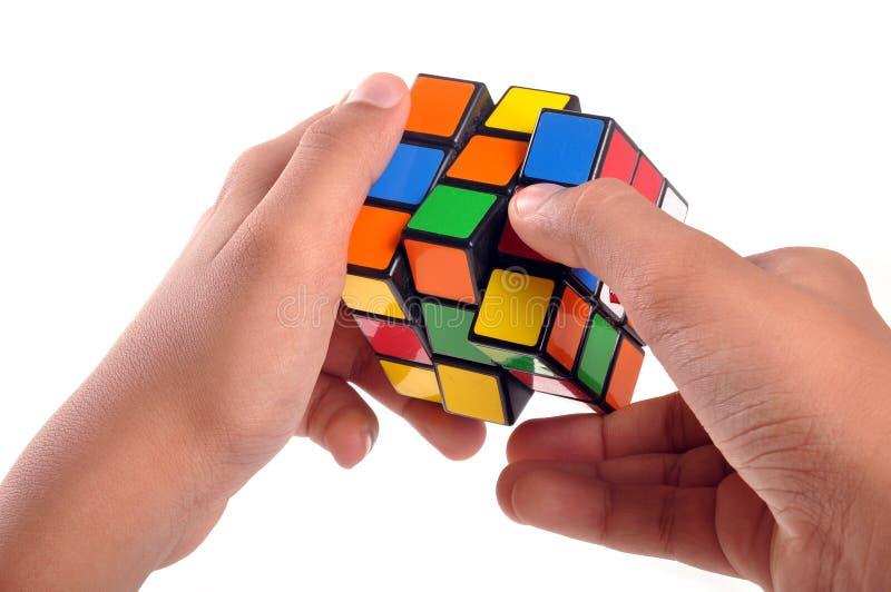 Cubo de Rubiks imagenes de archivo