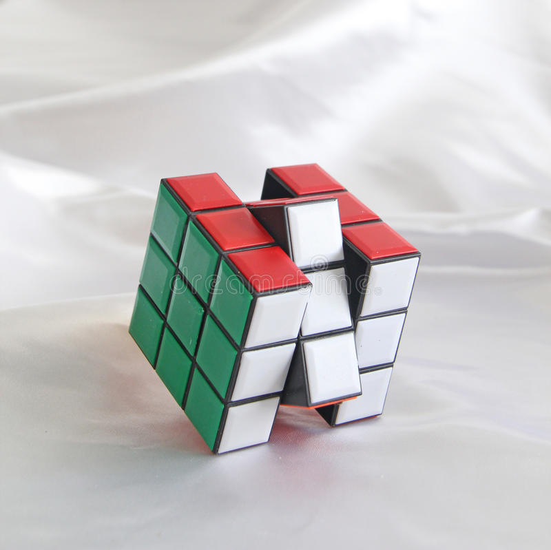 Cubo de Rubiks imagen de archivo libre de regalías