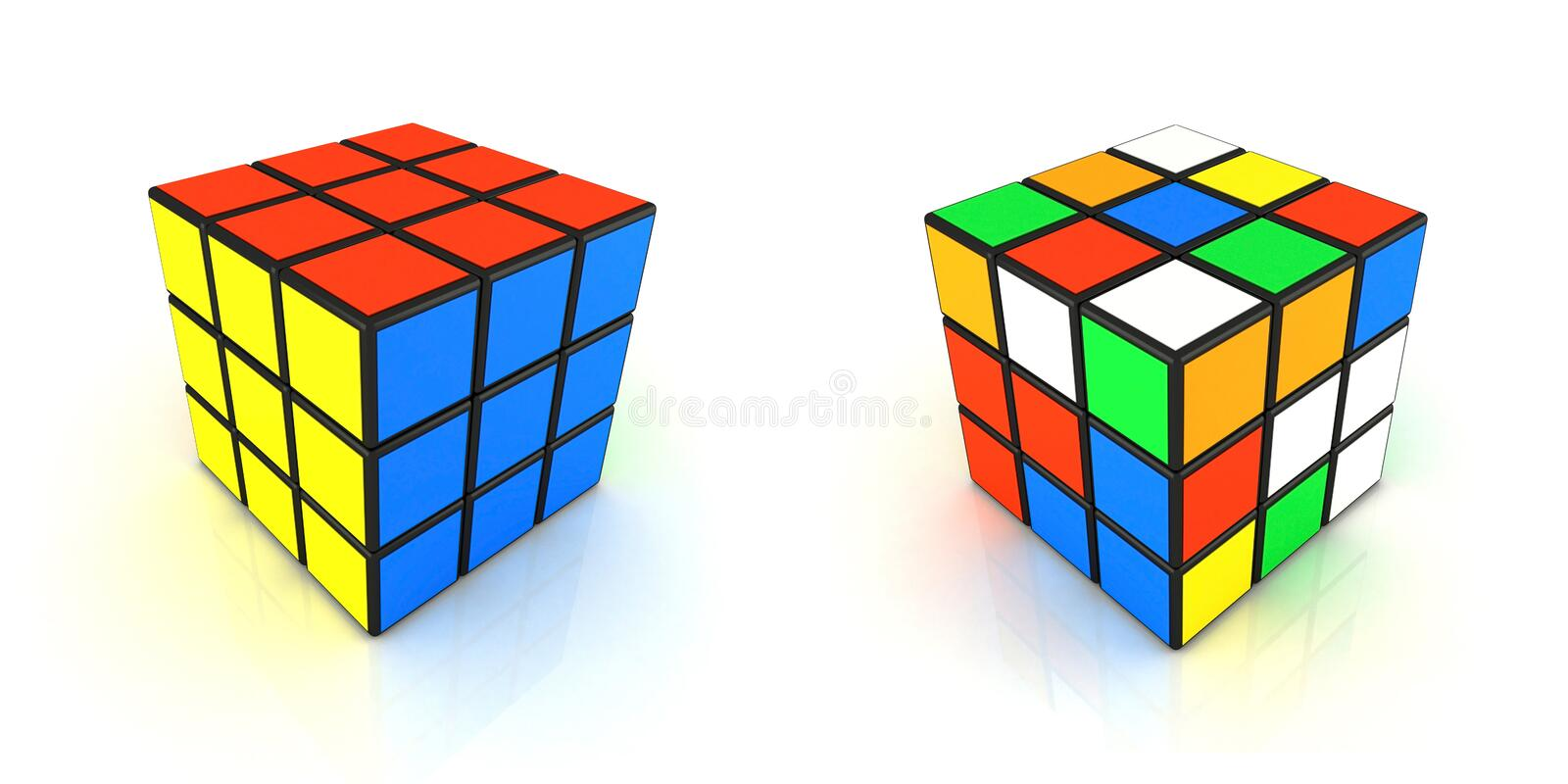 Cubo 2in1 de Rubiks imagem de stock royalty free