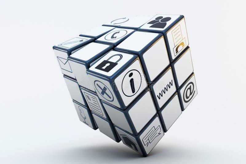 Cubo de Rubiks do negócio ilustração do vetor