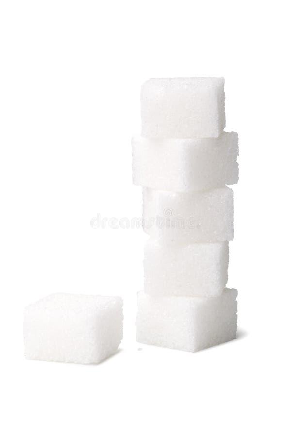 Cubo del azúcar foto de archivo