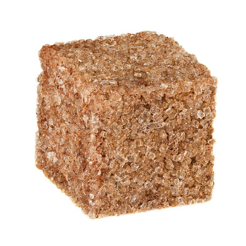 Cubo del azúcar de Brown imagen de archivo libre de regalías