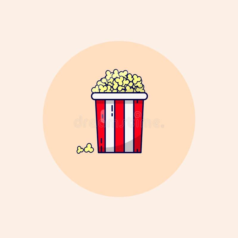 Cubo del cine de las palomitas de la trama en colores en colores pastel libre illustration