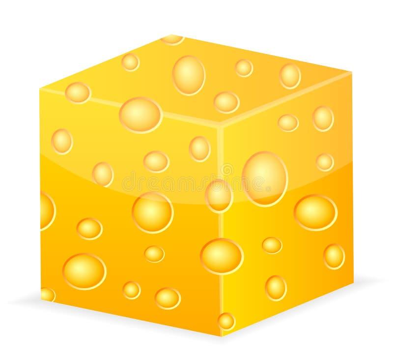 Cubo del queso libre illustration