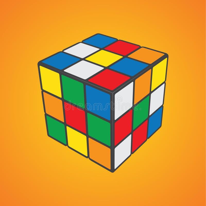Cubo del ` s de Rubik stock de ilustración