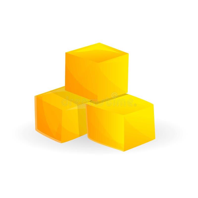 Cubo dell'icona del mango, stile del fumetto royalty illustrazione gratis