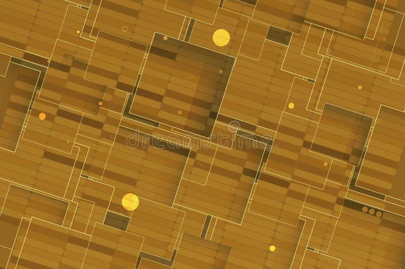 Cubo della rete di tecnologia emergente illustrazione di stock