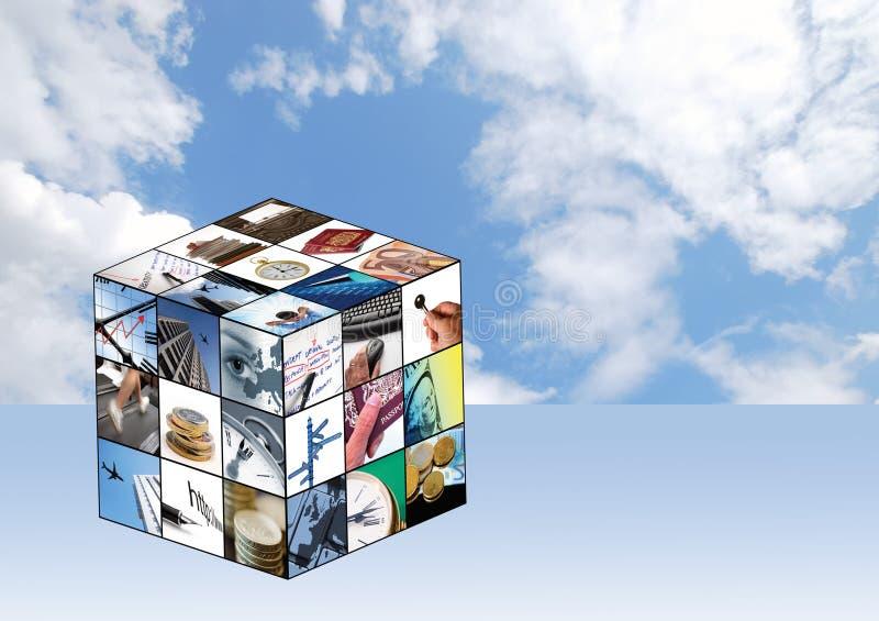 Cubo di affari illustrazione vettoriale