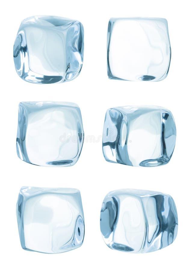 Cubo di ghiaccio isolato immagine stock libera da diritti