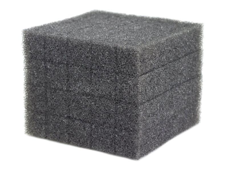 Cubo di gomma piuma immagine stock