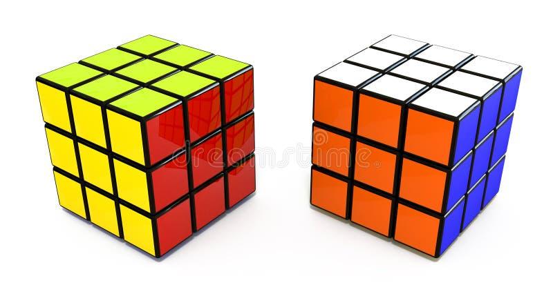 Cubo di Rubiks royalty illustrazione gratis