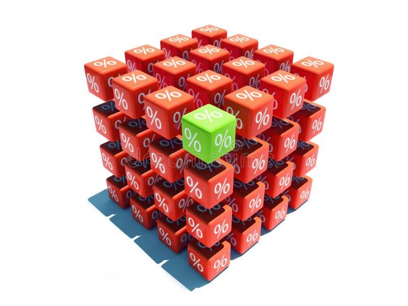 Cubo di sconto illustrazione vettoriale