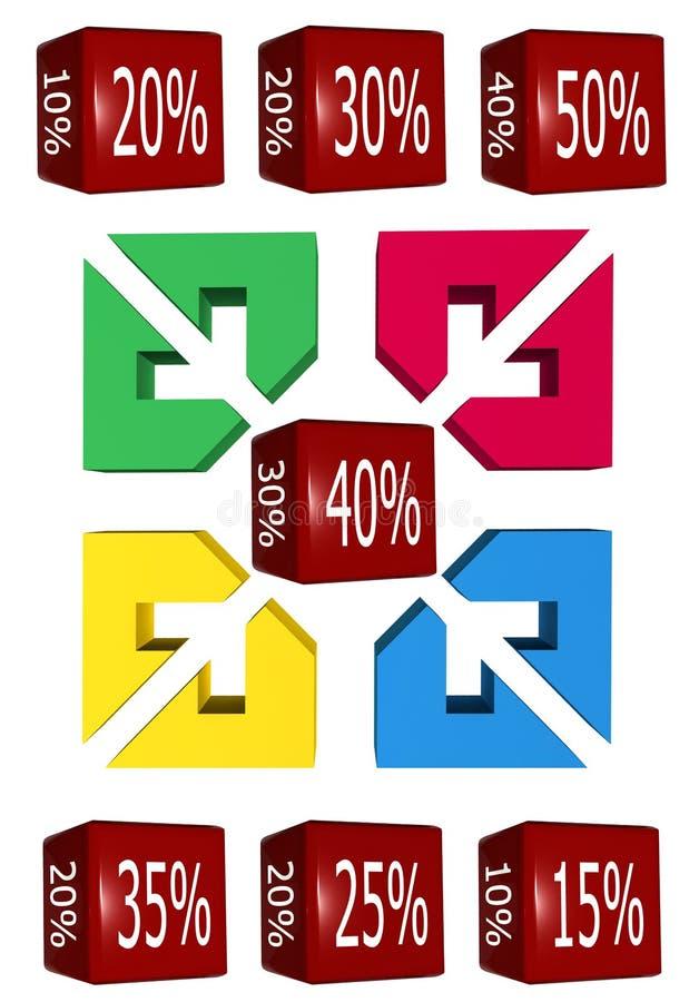 Cubo di vendite illustrazione vettoriale