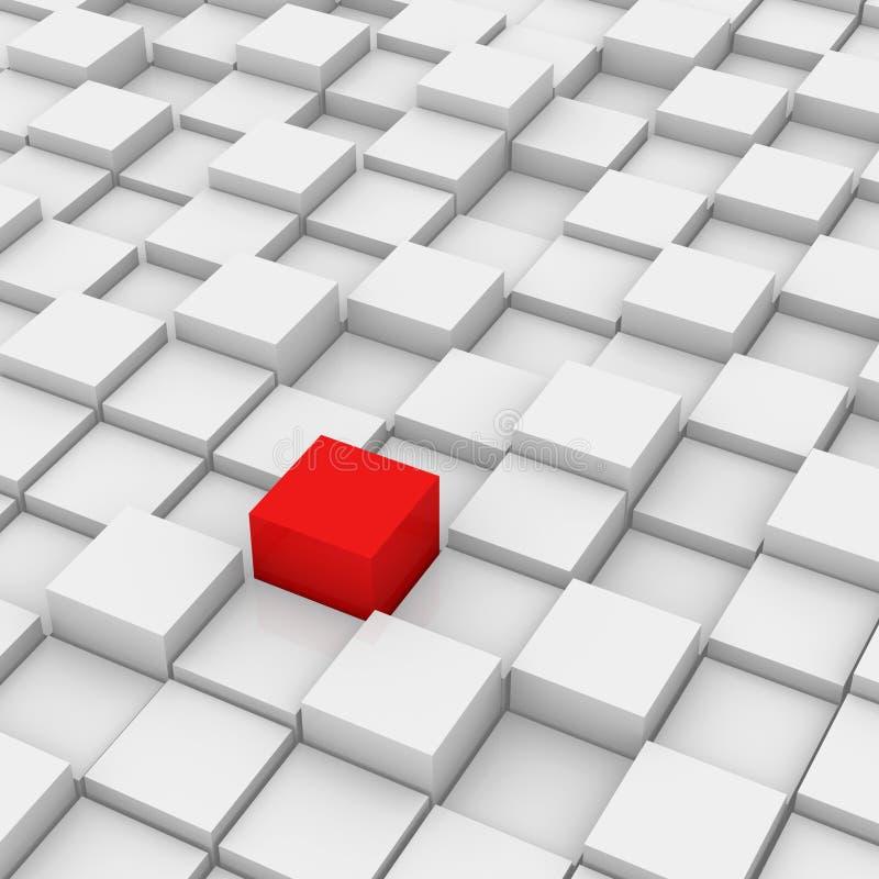 Cubo diferente do vermelho ilustração do vetor