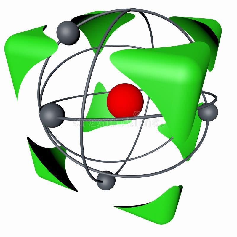 cubo do átomo ilustração do vetor