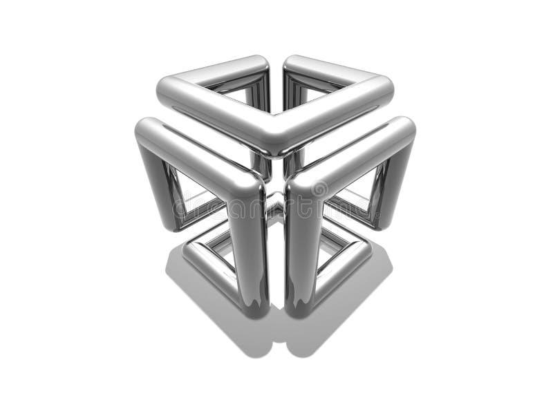 Cubo do cromo ilustração royalty free