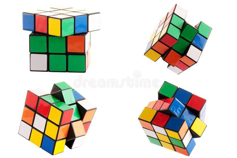 Cubo do enigma imagens de stock