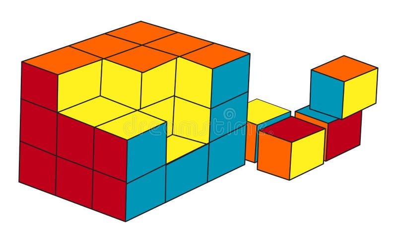 Cubo do enigma ilustração stock