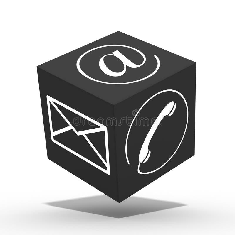 cubo do Internet 3d ilustração do vetor