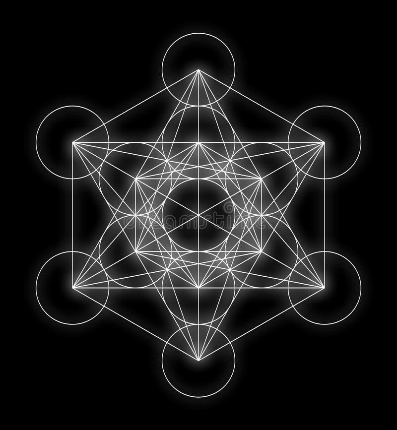 Cubo do ` s de Metatron ilustração royalty free