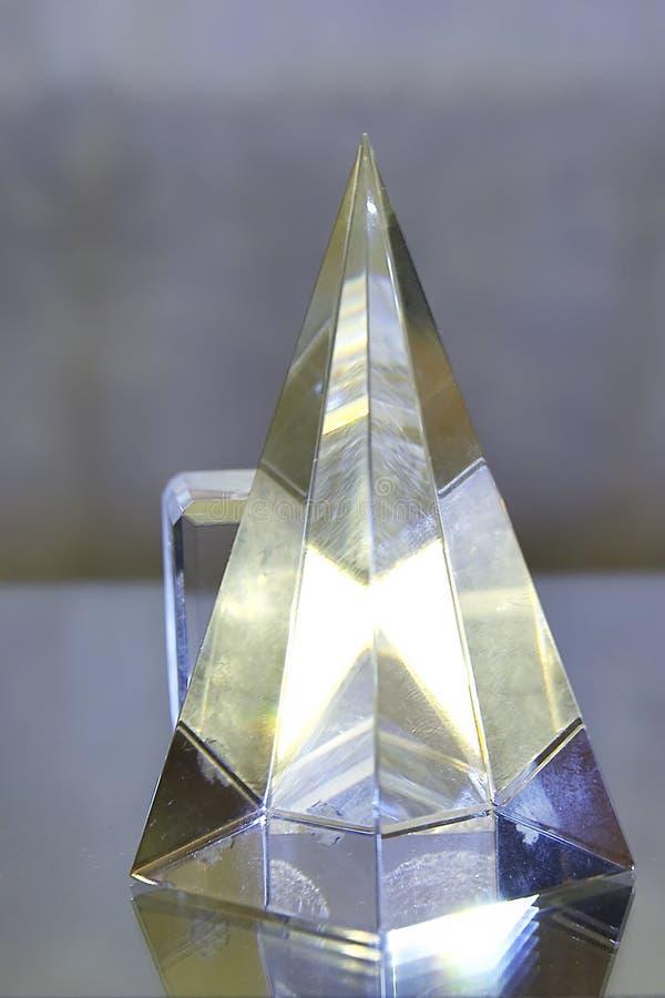 Cubo e pyramide fotografia de stock