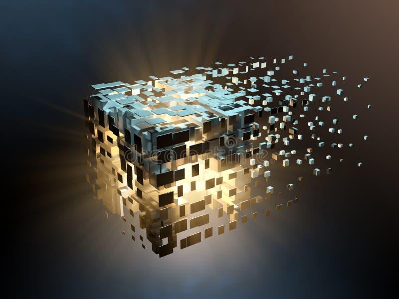Cubo fragmentado ilustração stock
