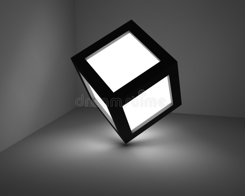 Cubo luminoso. fotos de archivo