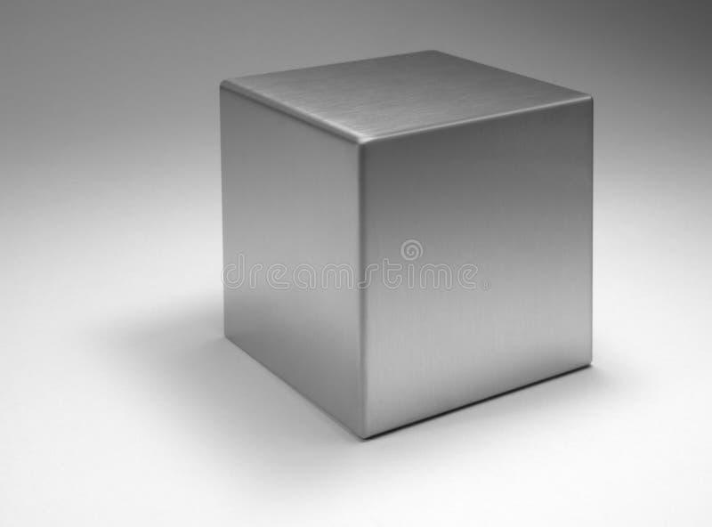 Cubo metallico solido fotografia stock libera da diritti