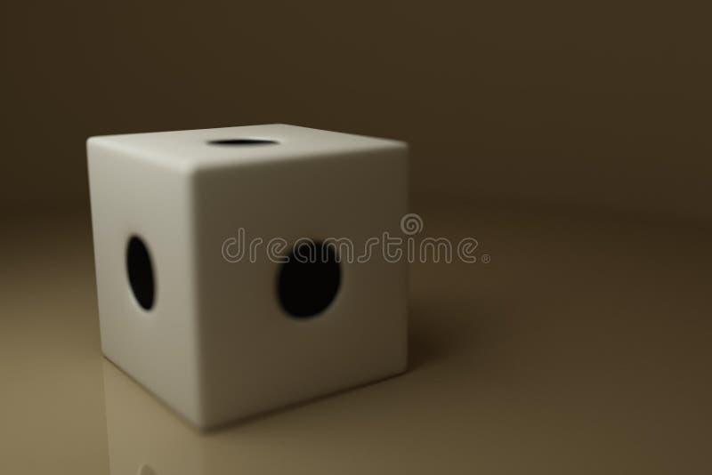 Cubo para o jogo imagens de stock royalty free