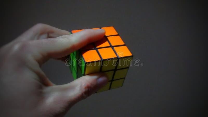 Cubo Rubik fotografia de stock royalty free