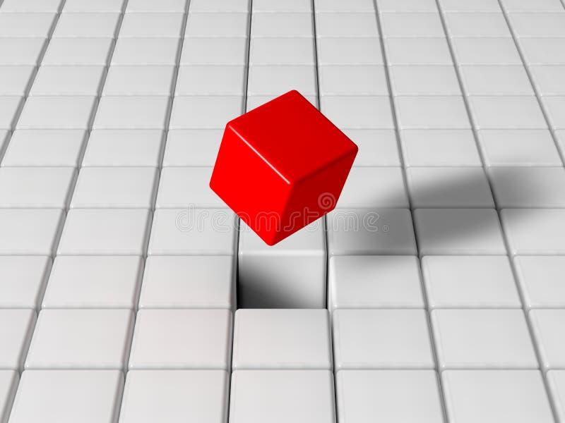 Cubo seleccionado ilustración del vector