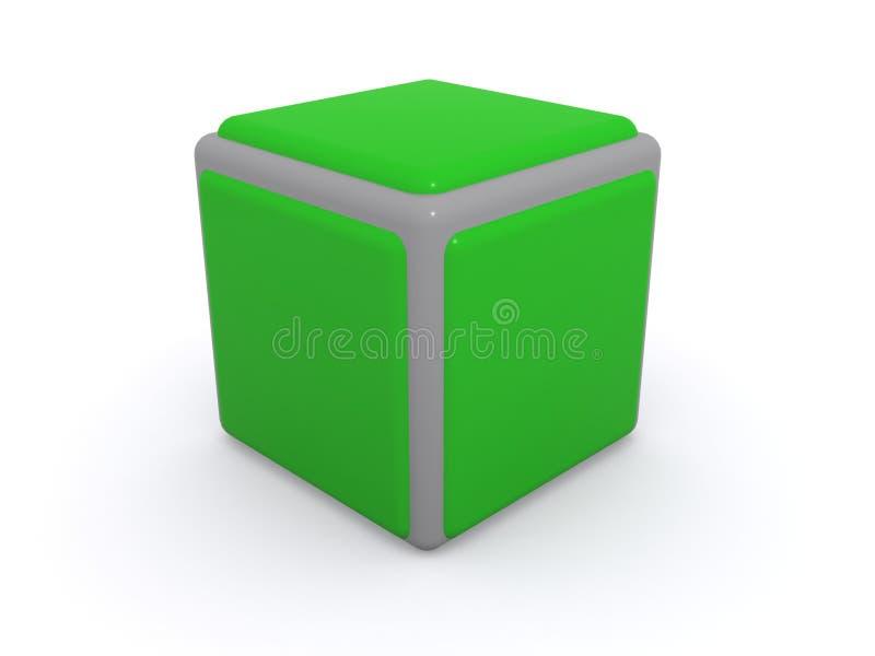 Cubo verde ilustração stock