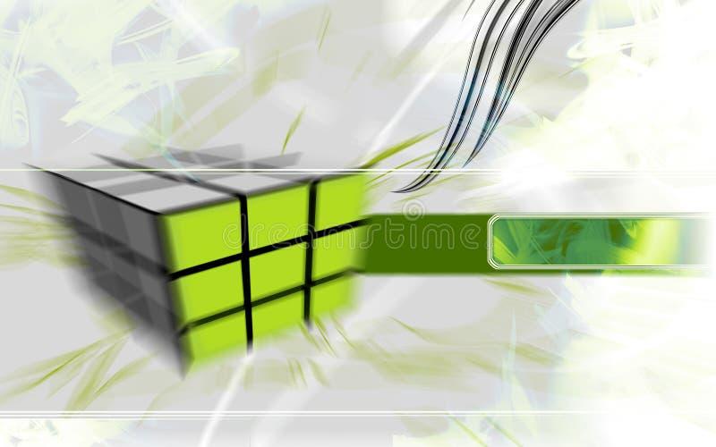 Cubo Verde De Alta Tecnología. Fotografía de archivo