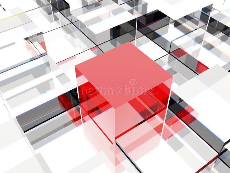 Cubo vermelho ilustração royalty free
