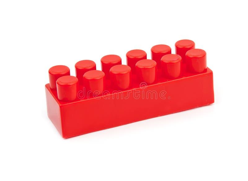 Cubo vermelho do brinquedo imagem de stock