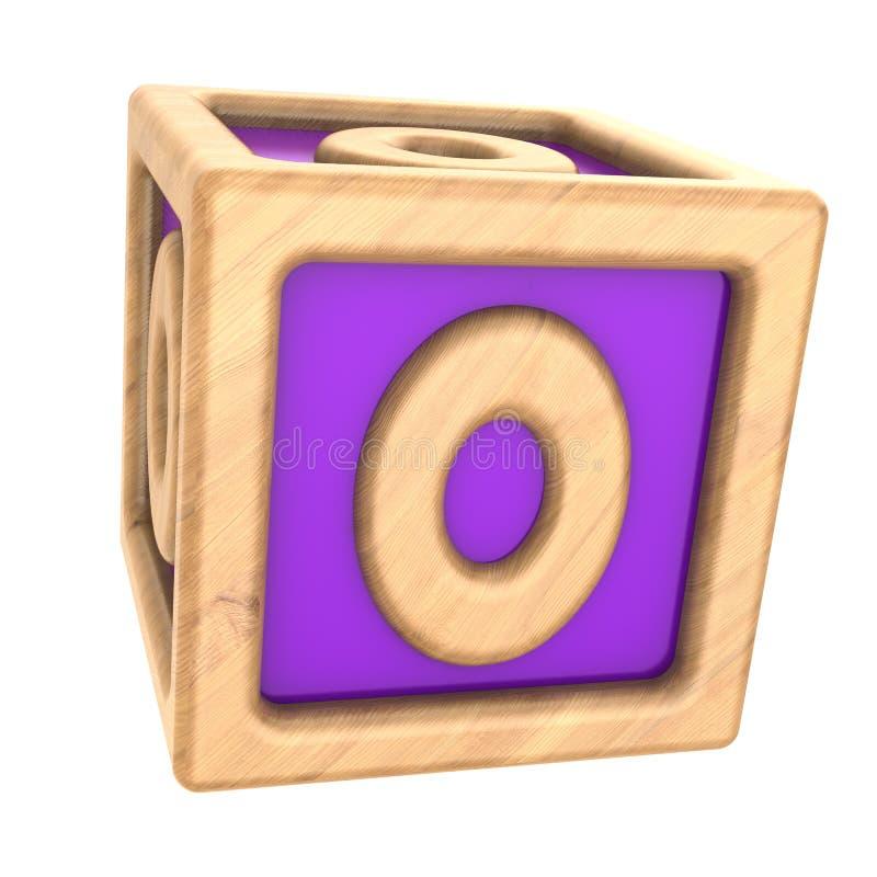cubo zero del giocattolo illustrazione di stock