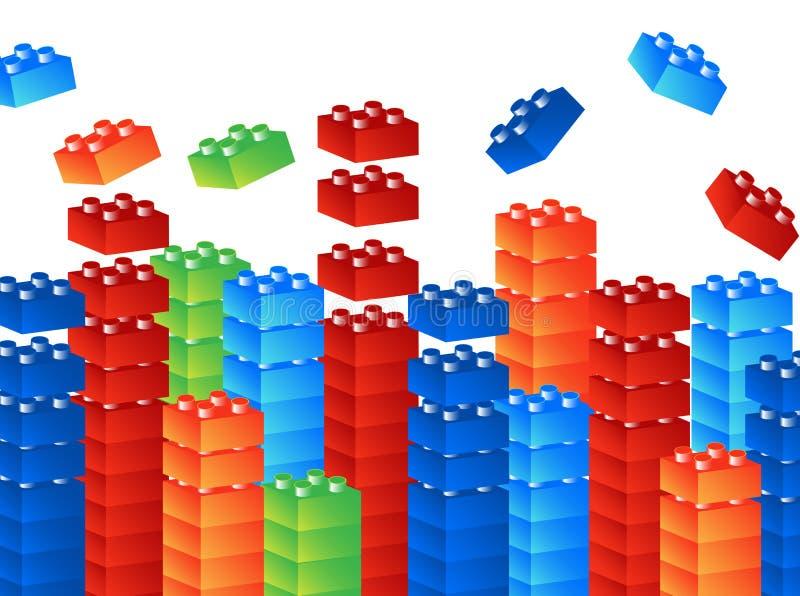 Cubos ilustração stock