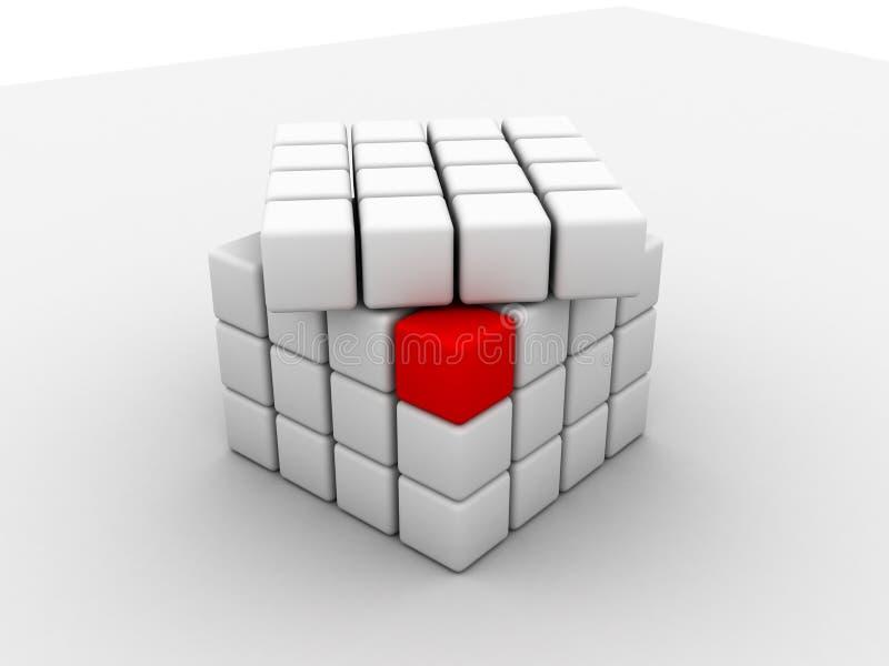 Cubos ilustração royalty free