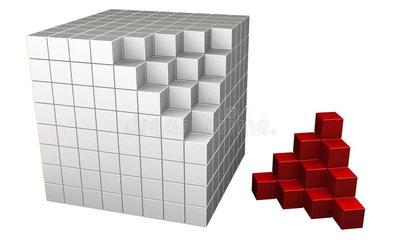 Cubos 3d Fotos de Stock