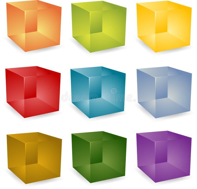cubos 3d ilustração stock