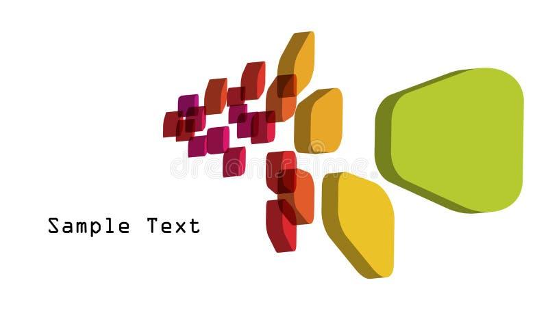 Cubos 3d coloridos ilustração stock