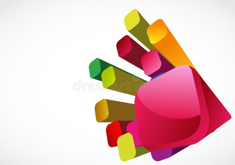 Cubos 3D coloridos ilustração royalty free