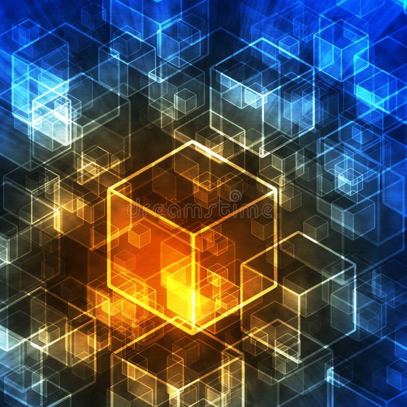 Cubos Abstractos 3d En Estilo De La Tecnologia Imagenes De